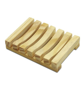 Eco-friendly wooden soap dish