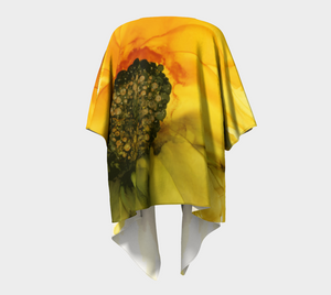 Draped Kimono:  September Sunflower