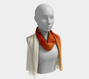 Long Scarf:  Mandarin Orange