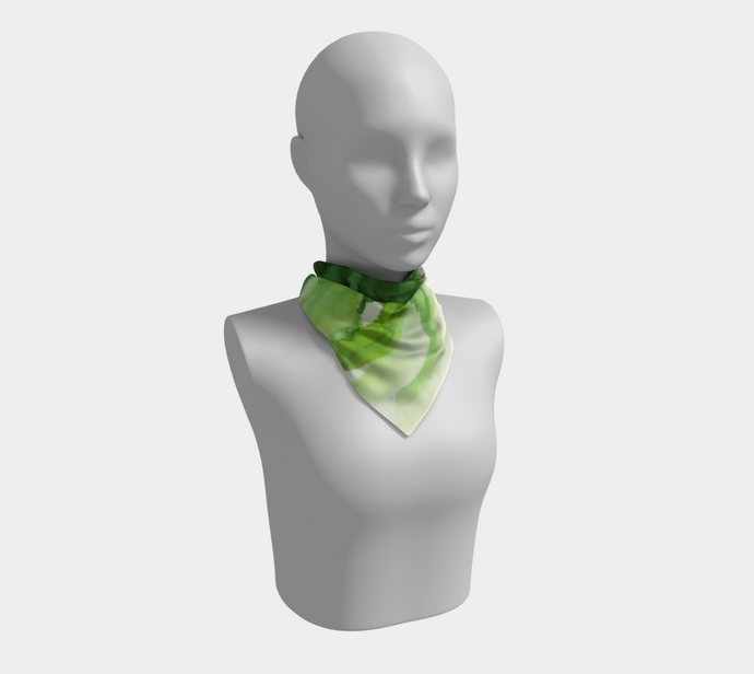 Square Scarf:  Cyan Song