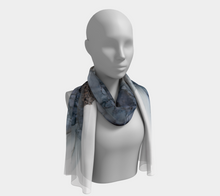 Load image into Gallery viewer, Long Scarf:  Bleu Hens