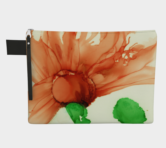 Clutch Purse:  Coral Crushed