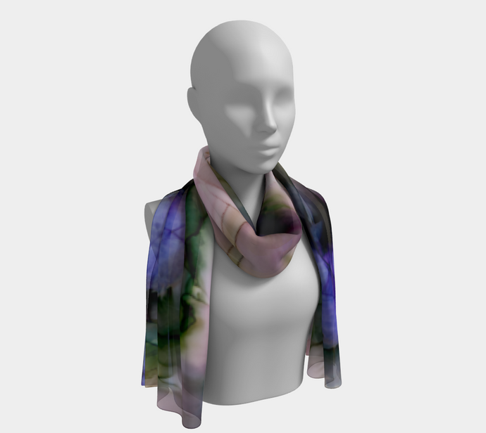 Long Scarf:  Lavender Lights