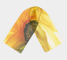 Load image into Gallery viewer, Long Scarf:  September Sunflower
