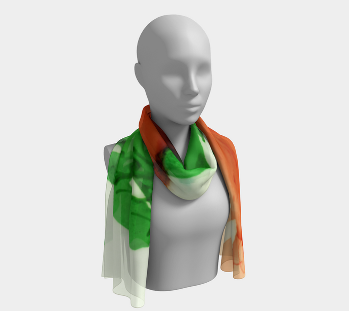 Long Scarf:  Coral Crushed