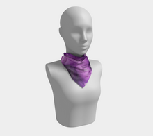 Load image into Gallery viewer, Square Scarf:  Purple Phaze