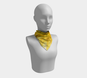 Square Scarf:  September Sunflower