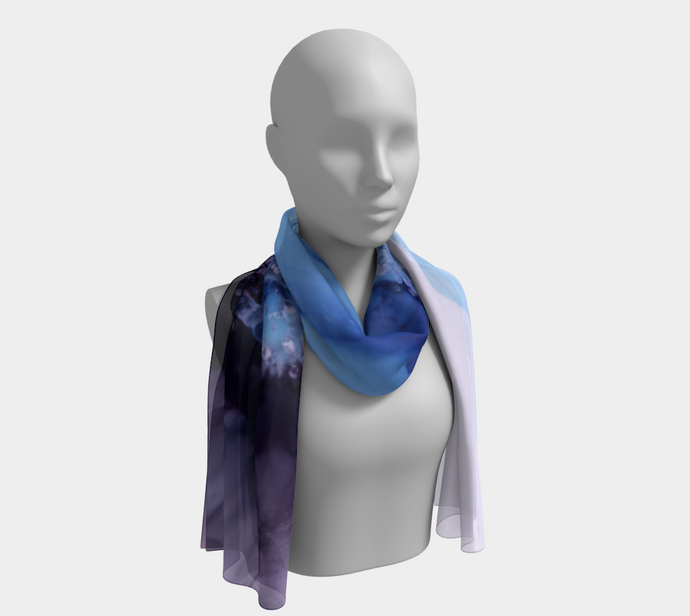 Long Scarf:  Blue Moon