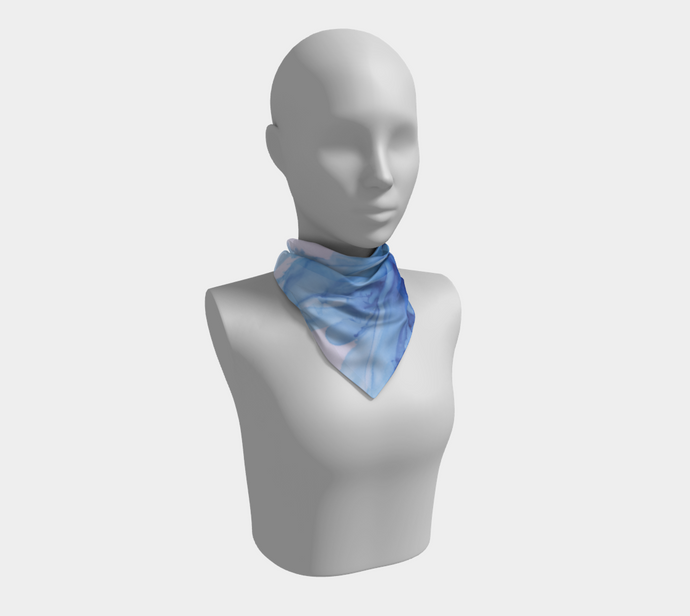 Square Scarf:  Blue Moon