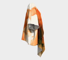 Load image into Gallery viewer, Draped Kimono:  Ophelia's Orange Orchid