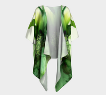 Load image into Gallery viewer, Draped Kimono:  Cyan Song
