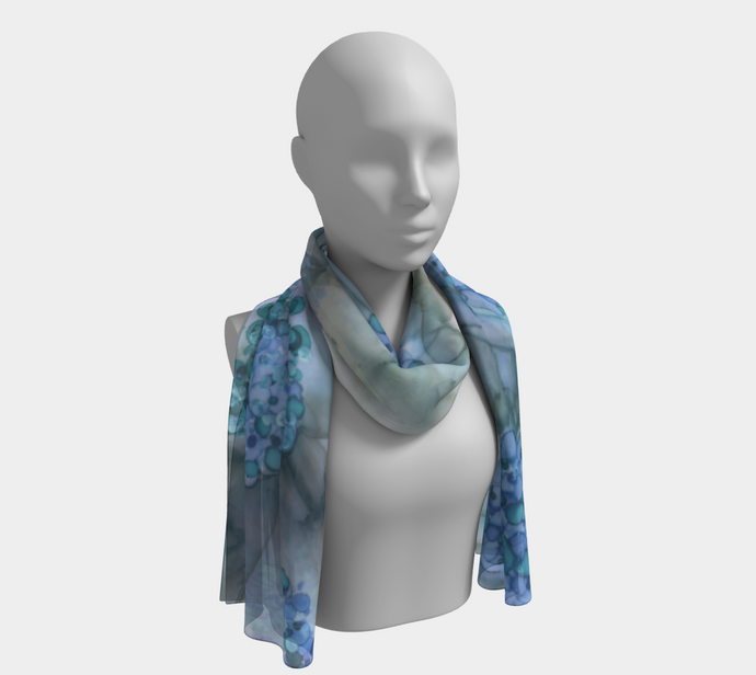 Long Scarf:  Blue Rhapsody