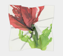 Load image into Gallery viewer, Square Scarf:  Floppy Poppy