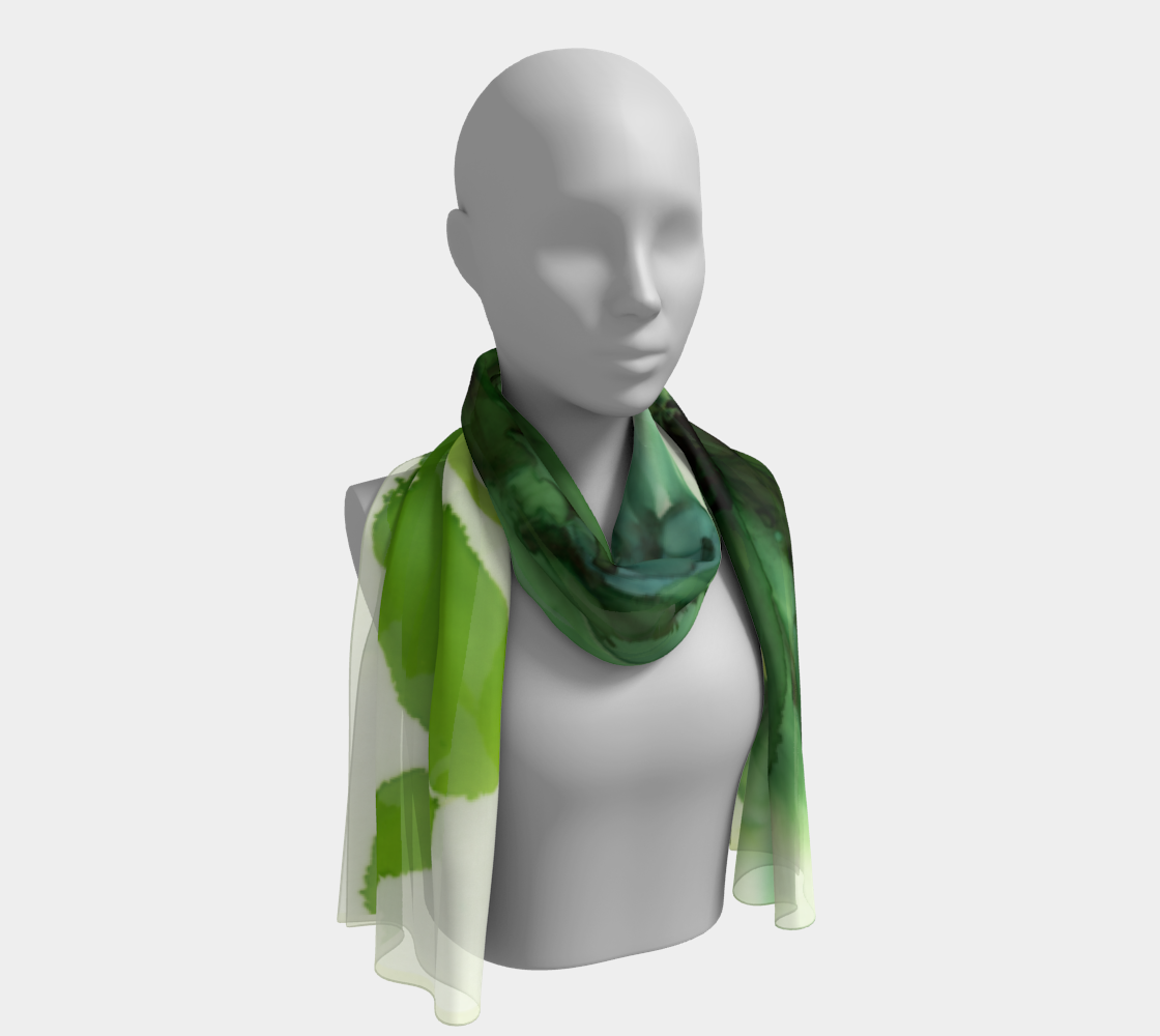 Long Scarf:  Cyan Song