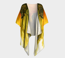 Load image into Gallery viewer, Draped Kimono:  September Sunflower