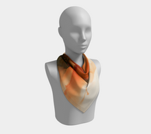 Load image into Gallery viewer, Square Scarf:  Ophelia's Orange Orchid