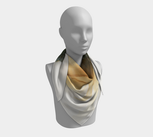 Square Scarf:  Gold Strike