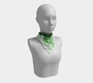 Square Scarf:  Green Queen