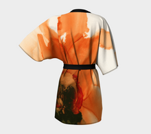 Load image into Gallery viewer, Kimono Robe:  Ophelia's Orange Orchid