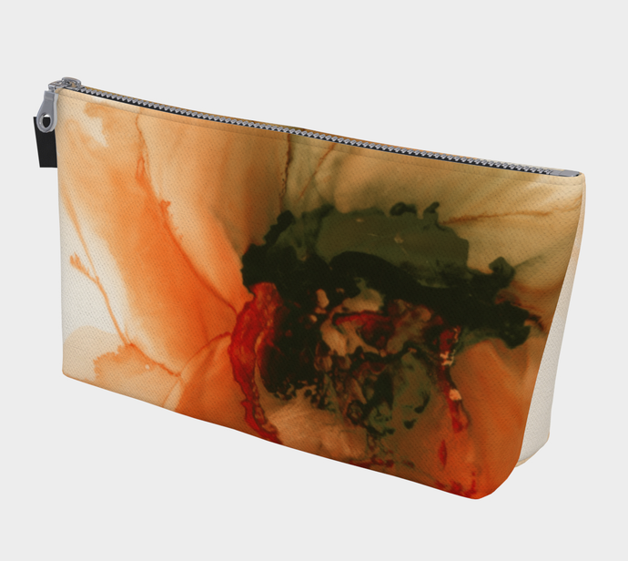 Makeup Bag:  Ophelia's Orange Orchid