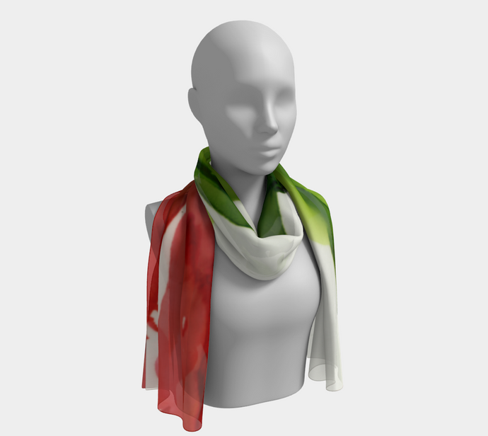 Long Scarf:  Floppy Poppy