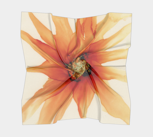 Square Scarf:  Mandarin Orange