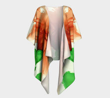 Load image into Gallery viewer, Draped Kimono:  Coral Crushed