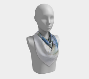 Square Scarf:  Blue Rhapsody