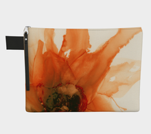 Load image into Gallery viewer, Clutch Purse:  Ophelia's Orange Orchid