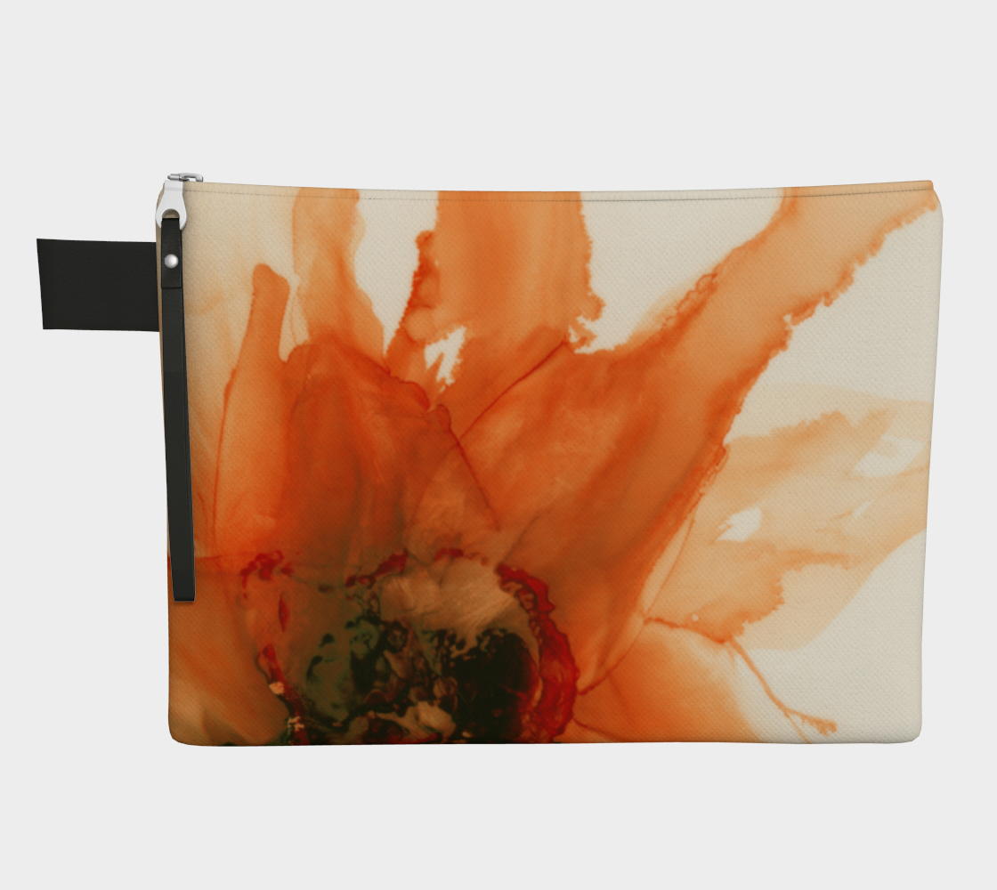 Clutch Purse:  Ophelia's Orange Orchid