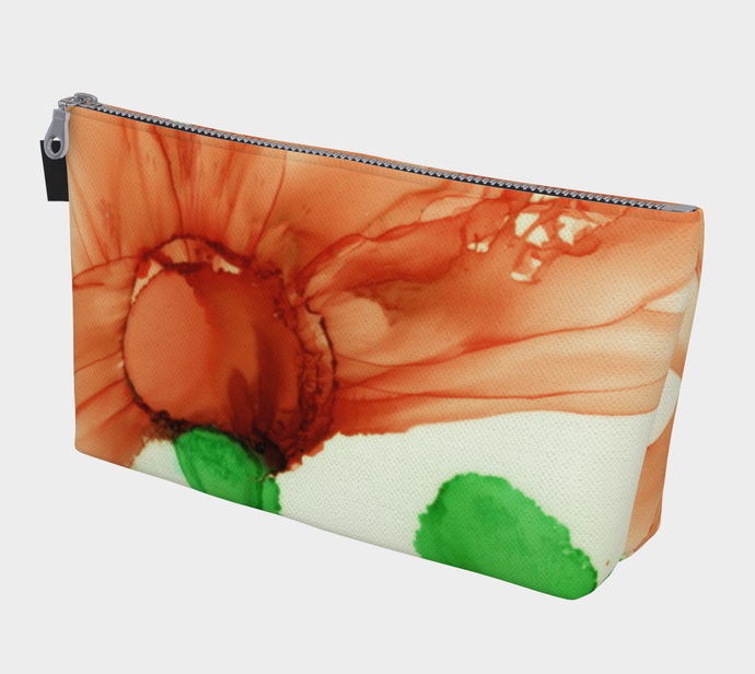 Makeup Bag:  Coral Crushed