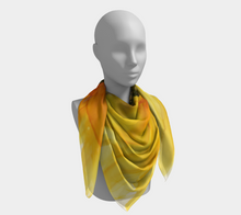Load image into Gallery viewer, Square Scarf:  September Sunflower