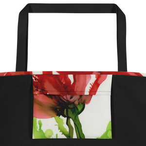 Tote with pocket:  Floppy Poppy
