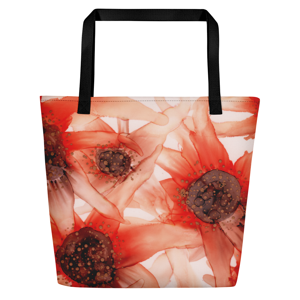 Tote with pocket:  Summer Solstice