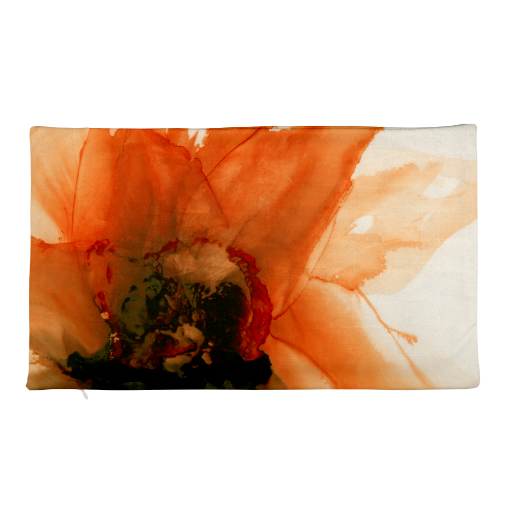 Premium Pillow Case:  Ophelia's Orange Orchid