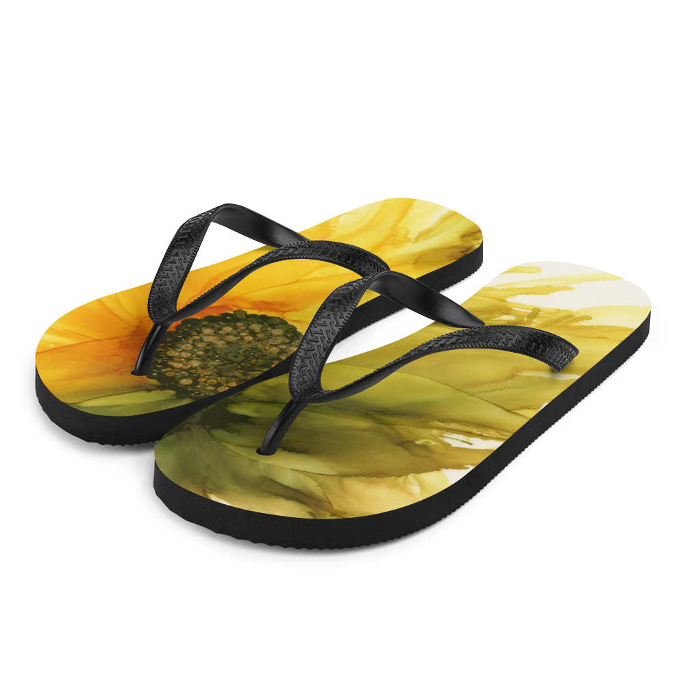Flip-Flops:  September Sunflower