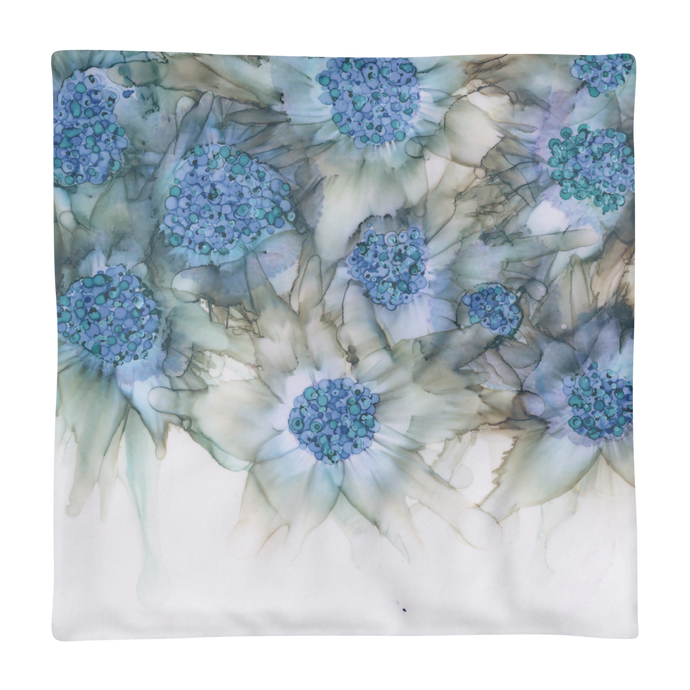 Basic Pillow Case:  Blue Rhapsody