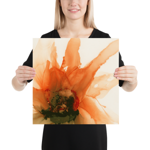 Frameless Poster:  Ophelia's Orange Orchid