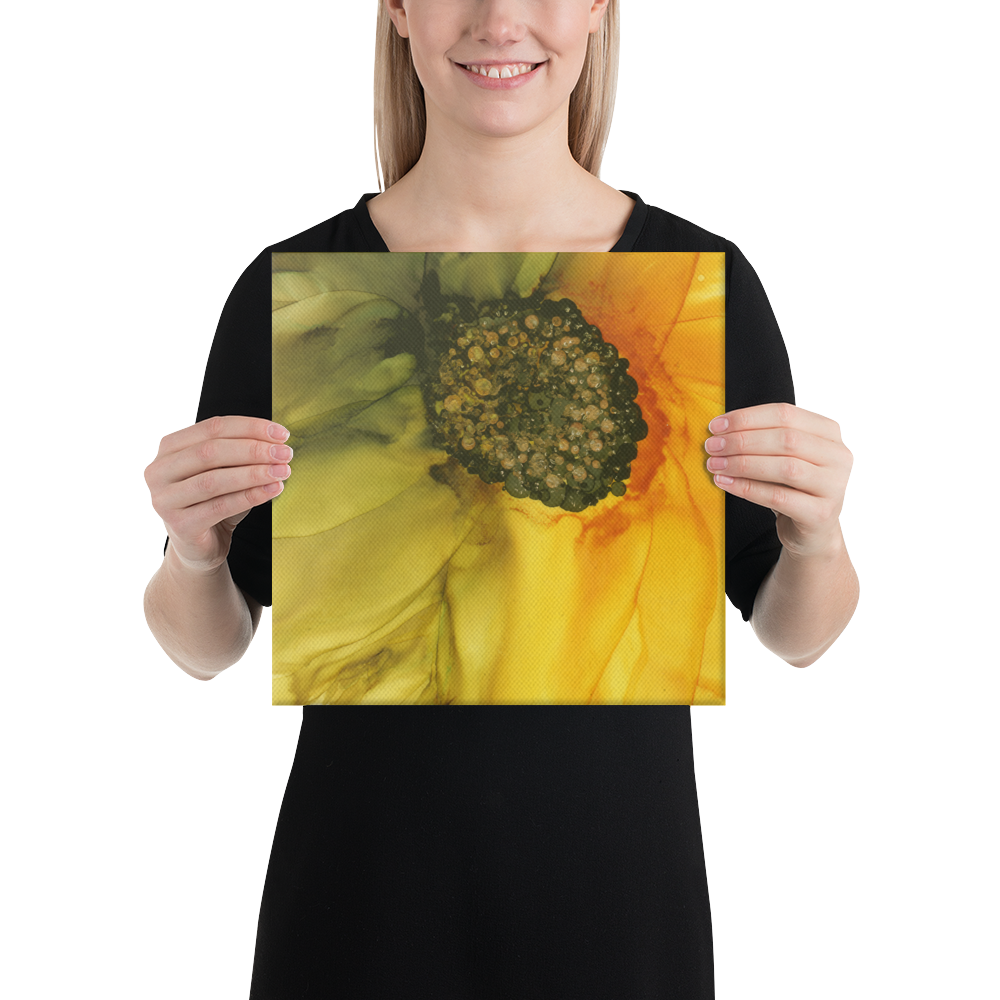 Canvas:  September Sunflower