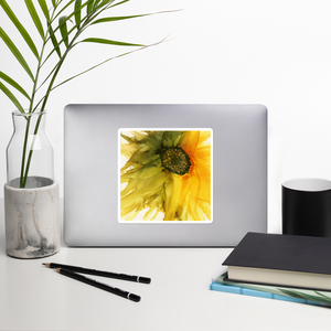 Bubble-free stickers:  September Sunflower
