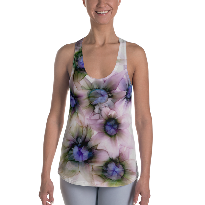 Women's Racerback Tank:  Lavender Lights