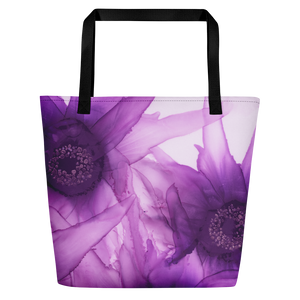 Tote with pocket:  Purple Phaze