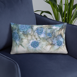 Basic Pillow:  Blue Rhapsody