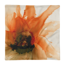 Load image into Gallery viewer, Premium Pillow Case:  Ophelia's Orange Orchid