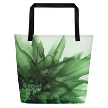 Load image into Gallery viewer, Tote with pocket:  Green Queen