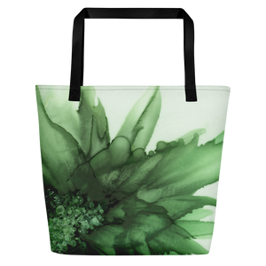 Tote with pocket:  Green Queen