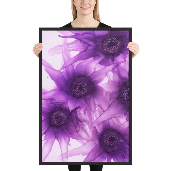 Framed poster:  Purple Phaze