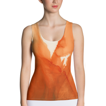 Load image into Gallery viewer, Tank Top:  Ophelia's Orange Orchid