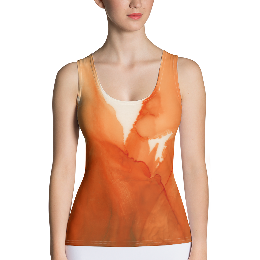 Tank Top:  Ophelia's Orange Orchid