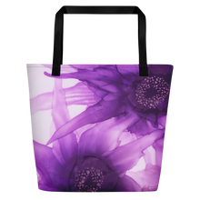 Load image into Gallery viewer, Tote with pocket:  Purple Phaze